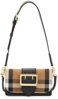 Burberry Bridle Small House Check Belt Shoulder Crossbody Bag, Black
