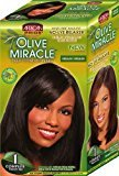 African Pride Olive Miracle Deep Conditioning No-Lye Relaxer - Regular Kit (Pack of 6)