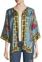 Etro Open-Front Tribal-Print Reversible Jacket