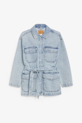 Monki Belted denim jacket