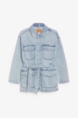 Monki Belted denim jacket