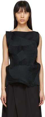Issey Miyake Black Dots Stretch Blouse