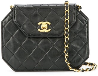 Chanel Pre Owned Quilted CC single chain shoulder bag