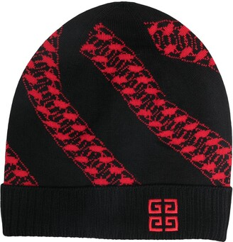 Givenchy Cable Pattern Beanie Hat