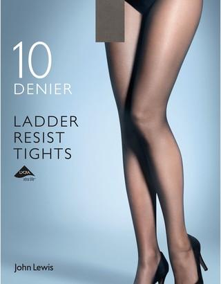 John Lewis & Partners 10 Denier Smooth Ladder Resist Tights, Pack of 1