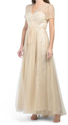 Sequin Glitter Mesh Ball Gown
