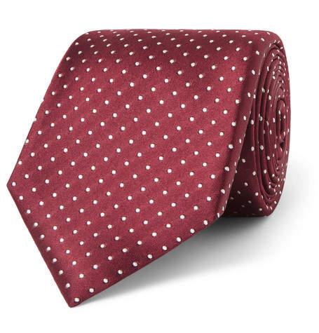 Canali 8cm Polka-Dot Silk Tie