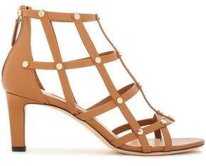 Jimmy Choo Tina 65 Studded Cutout Leather Sandals