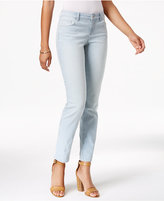 Style&Co. Style & Co Petite Striped Platform Wash Slim-Leg Jeans, Only at Macy's