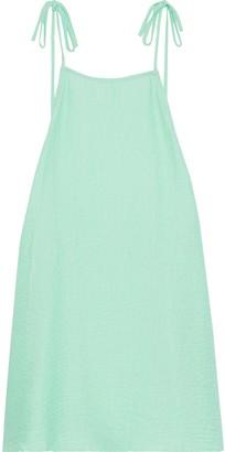 Onia Daphne Open-back Cloque Mini Dress