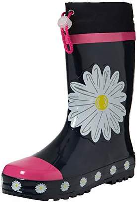Playshoes Unisex Kids' Girls Wellies Daisies Wellington Boots, (Pink 372), 26/27 EU