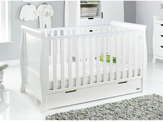 O Baby Stamford Classic Sleigh Cot Bed & Cot Top Changer