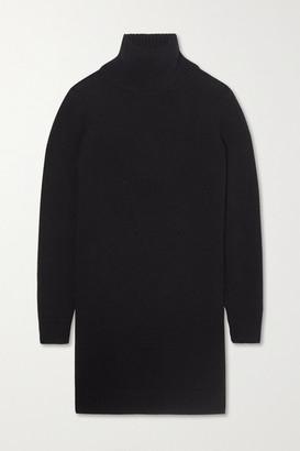 Saint Laurent Cashmere Turtleneck Mini Dress - Black