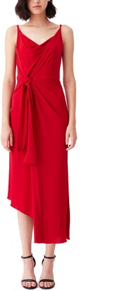 Diane von Furstenberg Amy Asymmetrical Tie Dress