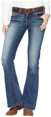 Rock and Roll Cowgirl Trouser Jeans in Dark Vintage W8-7683 (Dark Vintage) Women's Jeans