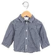 Jacadi Boys' Gingham Button-Up Top
