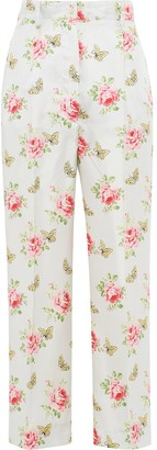 Prada Butterfly Print Trousers