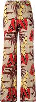 P.A.R.O.S.H. floral print trousers - women - Silk/Spandex/Elastane - XS