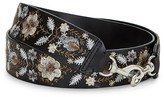 Rebecca Minkoff Metallic Embroidery Floral Guitar Strap