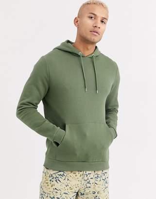 Asos Design DESIGN hoodie in khaki-Green