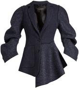 Burberry Sculptured-sleeve tweed jacket