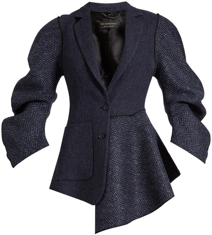 Burberry Sculptured-sleeve wool jacket