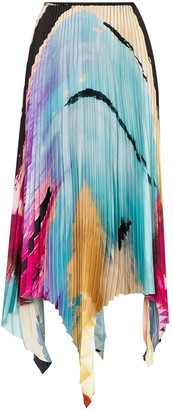 Marques Almeida Paul Morrow graphic-print pleated skirt