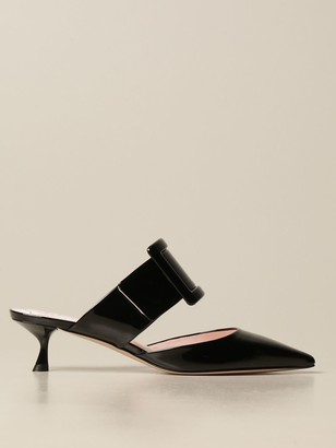 Roger Vivier Patent Leather Covered Buckle