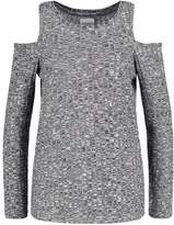 Vero Moda NEW VMNILLE Long sleeved top black beauty/snow white