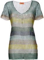 Missoni metallic striped blouse