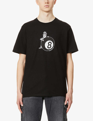 Stussy Behind the Eight Ball graphic-print cotton-jersey T-shirt