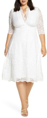 Kiyonna Bella Lace Fit & Flare Dress