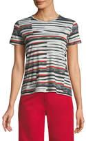Derek Lam Abstract Bold-Stripe Short-Sleeve T-Shirt