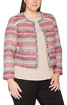 Ulla Popken Women's Indoorjacke Multicolor Jacket