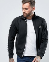 Fred Perry Sports Authentic Track Jacket In Black