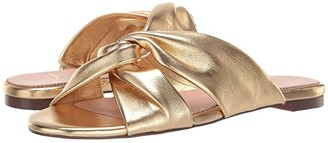 J.Crew Knotted Soft Leather Sandal (Metallic Gold) Women's Shoes