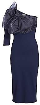 Chiara Boni Women's Caltha Organza Bodice Asymmetric Bodycon Dress