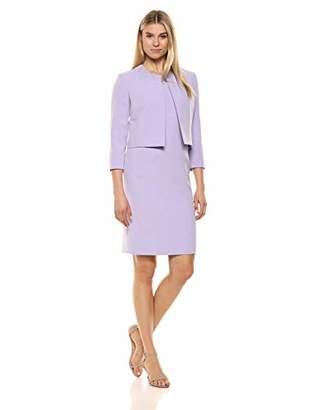 Le Suit Women's Open Jacket Crepe Dress Suit