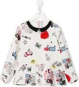 Simonetta souvenir print blouse