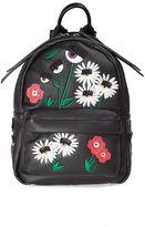 Chiara Ferragni Flirting Flowers Faux-leather Mini Backpack
