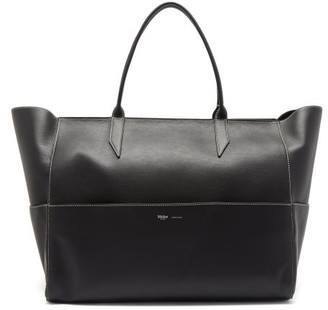 Métier Metier - Incognito Large Leather Tote Bag - Grey Multi