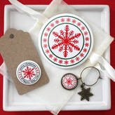 studio-sweepings Secret Santa Mirror And Wine Charm Gift