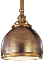 Visual Comfort & Co. Sloane Single Pendant, Antiqued Brass