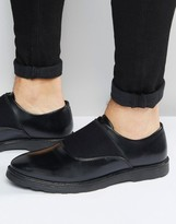 Asos Shoes in Black Leather With Elastic Strap