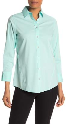 Foxcroft Marianne 3/4 Length Sleeve Solid Non Iron Stretch Shirt
