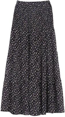 CODEXMODE Smocked Side Slit Skirt