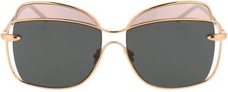 Pomellato Eyewear Oversized Two-Tone Sunglasses