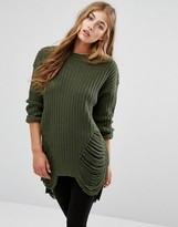 Missguided Distressed Sweater