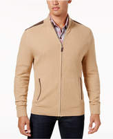 Tasso Elba Men's Textured-Knit Full-Zip Jacket, Created for Macy's