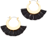 Rebecca Minkoff Palm Tassel Hoop Earrings